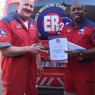 Well done to Godfrey Nomga, from the ER24 Welkom Branch, on receiving his 5-year… 69306646 2489091064485576 4704894359303094272 o 320x320