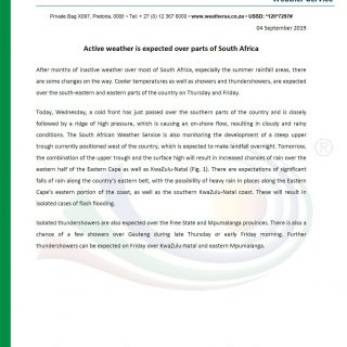 MEDIA RELEASE After months of inactive weather over most of RSA, especially the … 69575601 1090914024445253 6852392146335432704 o 320x320