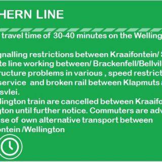 15:59 #NorthernLineCT #ServiceAlert :   Broken rail between Klapmuts and Mulders… 69663646 3564703983555162 2746892328961572864 n 320x320
