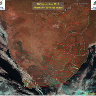 Afternoon satellite image (20 September 2019) – Partly cloudy over the southern … 70743661 1102049279998394 6199884350901714944 o 320x320