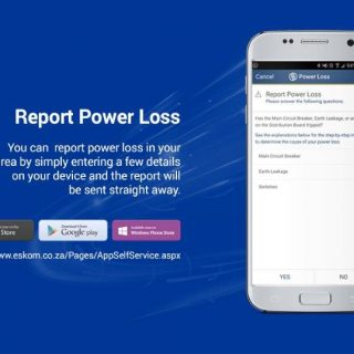 Eskom customers can report #PowerOutages to 0860037566 / SMS 35328 / Email custo… 70868027 3068454639847926 1383205105418895360 o 320x320