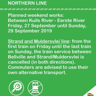 #Northern Line Cape Town : Planned Maintenance Work : Train service between Bel… 71102365 3627256950633198 3721110221590888448 o 320x320