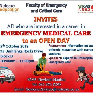 Netcare Education Faculty of Emergency and Critical Care FECC KZN campus invites… 71213949 2549702498384204 6182046750426005504 o 320x320