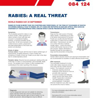 #WorldRabiesDay 28 September 2019.  Rabies is found in more than 150 countries a… 71904864 2545920312135984 7934594145375485952 o 320x320