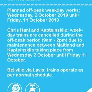 #CentralLineCT #ServiceAdvisory  Off-peak planned weekday maintenance work impac… 71277431 3642575675767992 3473103021620068352 o 320x320