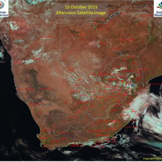 Afternoon satellite image (13 October 2019) – Active thundershowers observed ove… 72569710 1119442798259042 7950613033359769600 n 320x320
