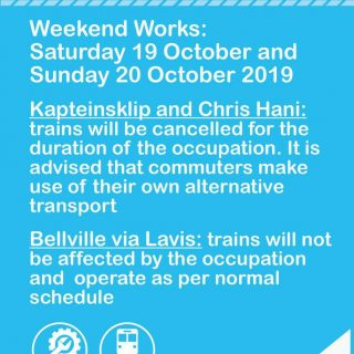 #CentralLineCT Planned Weekend Works:  Note, service changes on Kapteinsklip and… 72648818 3699509770074582 187928454405029888 o 320x320
