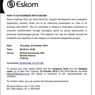 """#EskomNorthWest to conduct an interactive presentation session on """"How to do bus… 72728055 3143826462310743 372051537721032704 o 320x320"""