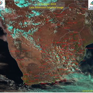 Late afternoon satellite image (12 October 2019) – Isolated showers and thunders… 72748171 1118783174991671 3790897702074580992 o 320x320