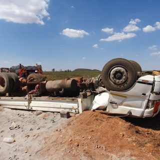 One person sustained moderate injuries this afternoon when a truck overturned on… 73028091 2585892021472146 4809427322052542464 o 320x320