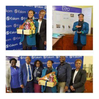 #EskomKZN's GM, Agnes Mlambo congratulated Best Energy Project winner Pinky Jiya… 73097691 3117054078321315 5029749970287198208 o 320x320