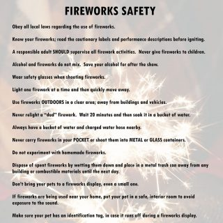 Safety tips to remember when using fireworks. 73128872 2610428035644983 1092967059689570304 o 320x320