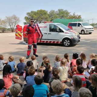 The ER24 Johannesburg North crew doing a demonstration at HeronBridge College th… 73276807 2602531976474817 4896574802648629248 o 320x320