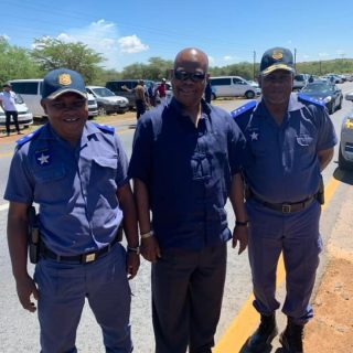 Chairman of our board Mr Zola Majavu with Senior members of the National Traffic… 78328765 2577278269020948 6194645096390983680 n 320x320