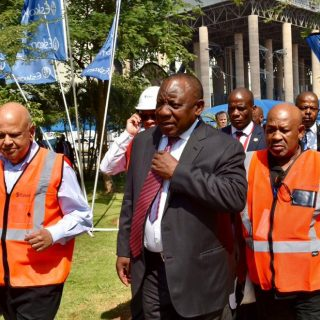 President Cyril Ramaphosa has now arrived at Medupi Power Station for the tour. … 78661809 3230063990353656 4376803315095175168 n 320x320