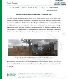 MEDIA RELEASE – Damage from a microburst in Eastern Cape: 29 November 2019 78197100 1163094867227168 7677577912198889472 n 277x320