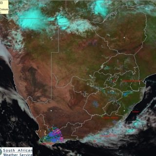Late morning satellite image (03 January 2020). Cloudy with light rain along the… 81183460 1192725254264129 8357375135262441472 n 320x320