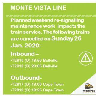 #MonteVistaLineCT #ServiceAdvisory : Planned Weekend re-signalling maintenance … 83471806 4040273105998245 3178941793848786944 n 320x320