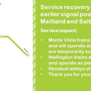 #ServiceAdvisory Service recovery underway following earlier signal power failur… 89950350 4219290321429855 2688411547453095936 o 320x320