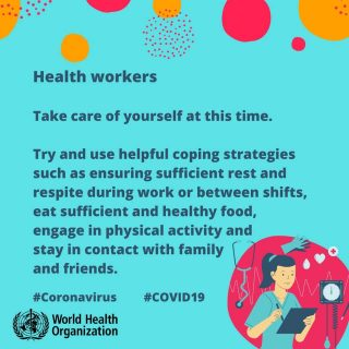 Health workers, take care of yourself during COVID-19. Try and use helpful copin… 90508558 3003787116333318 3721746860298207232 n 320x320