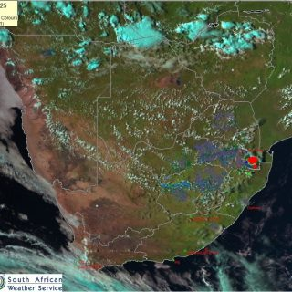 Late PM satellite image (25 March 2020). Its a mostly clear afternoon across SA…. 90599527 1256160867920567 8396186074656800768 n 320x320