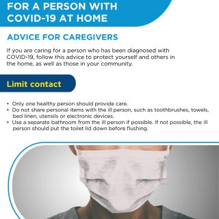 Advice for Caregivers: How to care for a person with COVID-19 at home. 93033502 3006280329393083 3658393365377974272 o 320x320