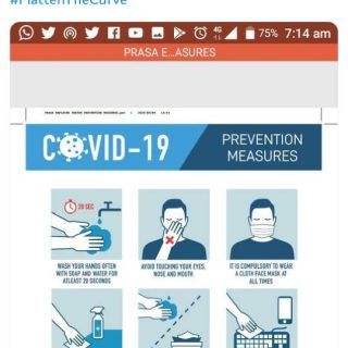 #ServiceAdvisory #Covid19SA Prevention measures. Together we can beat the Covid-… 109344902 4724478684244347 6488177503984209010 o
