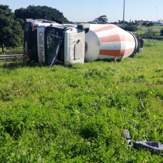 Truck overturned coming out of Cape Town Direction M5 near Koeberg interchange  … 110194000 3148931225155681 4564862229716818059 o