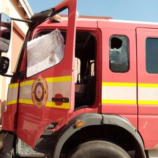 Protestors turned on firefighters in Khayelitsha this morning.   It is counterpr… 110902590 3151986551516815 1963679345802849375 o