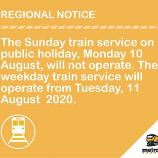 #ServiceAdvisory  #SouthernLineCT  Commuters are advised that the Sunday train … 117000847 4827572173934997 410820870417391774 o