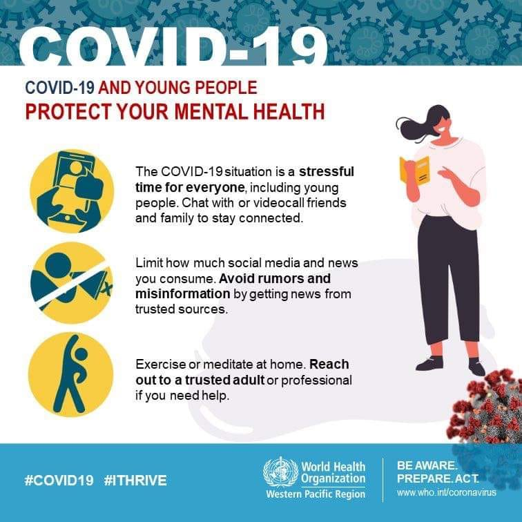 To all young people, you can protect your mental health during COVID-19 by reach… 117445167 3326290567392056 5497671900120893124 n