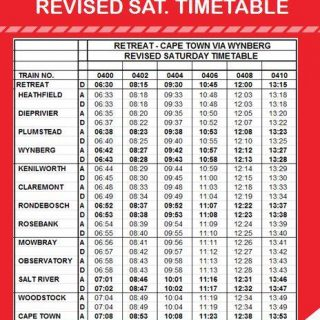 #ServiceAdvisory #SouthernLineCT:  Saturday Timetable changes-   Commuters are a… 117611250 4871907406168140 3969355845869568648 n