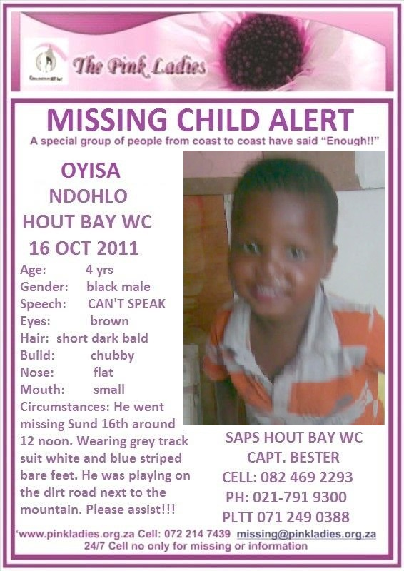 #ColdCase2011  NEVER FOUND TO OUR KNOWLEDGE   MISSING MISSING : Hout Bay WC Oyis… 117711003 4100398833365879 2478148113973911166 n