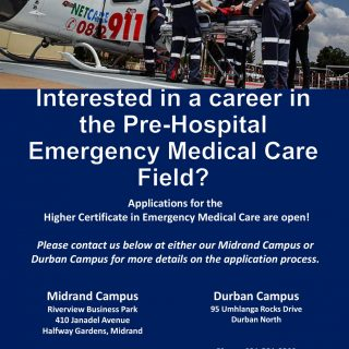 Interested in a career in the Pre-Hospital Emergency Medical Care Field?  Applic… 117770320 3339167542771025 3889690325502294441 o