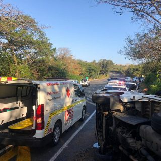14 August 2020  2 Injured, Single vehicle accident- Shakas Rock.  Earlier this a… 117803193 4323952751013325 7086185056126115454 o