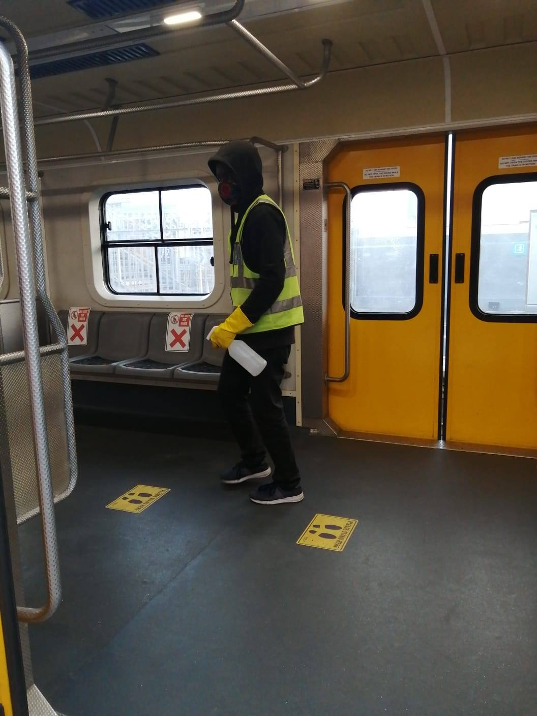 #ServiceAdvisory #Covid19SA  Trains are sanitized at turnaround stations. Togeth… 117832483 4863776103647937 8591192685930638009 o