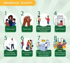 #newnormal 8 Steps in getting used to a new way of going about our daily lives i… 118433878 3370317582989354 1687799347505222819 o