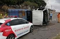 Bin Truck Overturns: Inanda – KZN  Four people were injured after the truck they… 119211477 3616913874993847 7375732246067795148 o