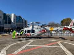 Gauteng HEMS: Netcare 1 a specialised helicopter ambulance has been activated fo… 119215317 3427656560588789 182729156996828959 o