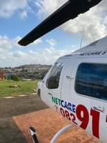 KwaZulu-Natal HEMS: Netcare 5 a specialised helicopter ambulance has been activa… 119551264 3430135343674244 4929173346436379514 o