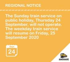 #ServiceAdvisory #Heritage Day Regional Announcement 119845519 5074701132555432 5804543247852189897 o