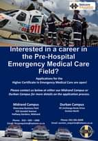 Diploma in Emergency Medical Care.  Applications for the Diploma in EMC 2021 pro… 119997329 3446145312073247 3682631342167138822 o