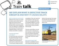 #MetroMatters #TrainTalk Did you know? We explain what a defective track circuit… 120272170 5117745791584299 1279253697986288356 o