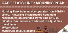 #SouthernLineCT #ServiceUpdate :   Extended travel time of 10 – 20 min 120568924 5126233500735528 8510973833548094483 n
