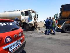 ER24 on-scene in Delmas for a milk tanker that collided with a coal tipper on th… 122089346 3512797538781585 3351108224887670645 o