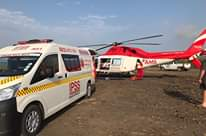 18 October 2020  Tractor accident- Patient airlifted, Mtunzini   Earlier this af… 122120949 4649637461778184 2896863945099326226 o