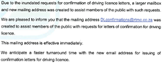 Driving Licence confirmation letters… 122160618 3388076977941069 9124805632075809020 n