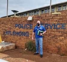 IRS member Andre van Wyk at the Katlehong police station for meeting with SAPS r… 122892485 3693851957312851 1834803655058887557 o