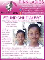 #MissingMinorsPinkLadies    FOUND: Ivory Park GP Francisca Tshuma 12 yr 28 Oct 2… 123191334 4474160362656389 2160421372696909153 n