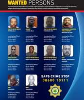 WANTED  Post via South African Police Service:  The South African Police Service… 125147672 3740504455980934 5502695611242109781 n